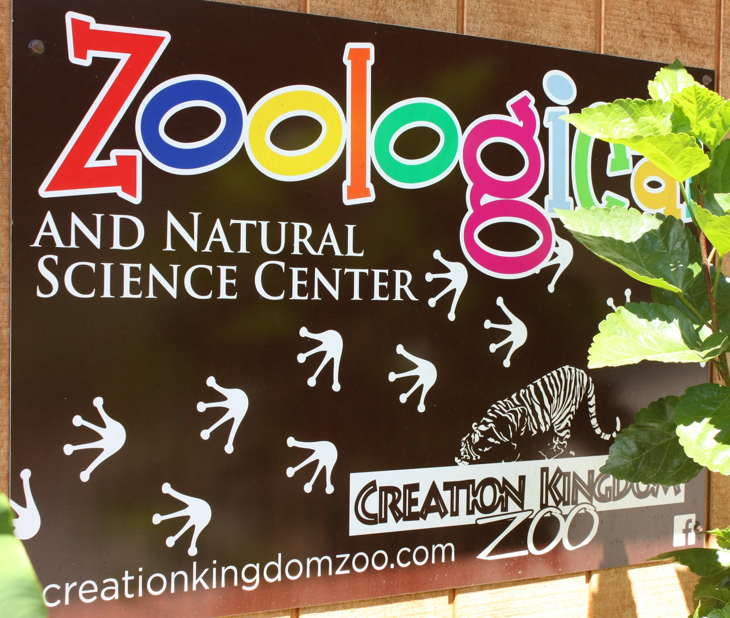 Creation Kingdom Zoo Center Sign