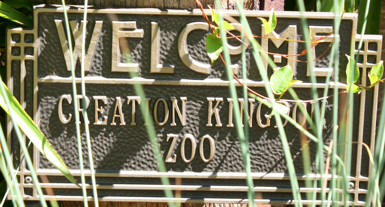 Creation Kingdom zoo sign